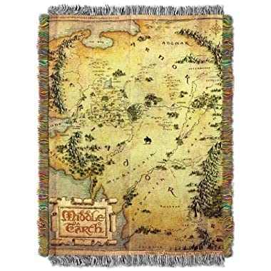 Warner Brothers The Hobbit,Middle Earth Woven Tapestry Throw Blanket, 48  x 60