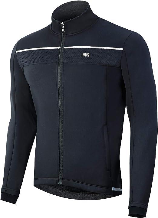 Souke Sports Men's Winter Cycling Jacket, Windproof Water Resistant Thermal Windbreaker