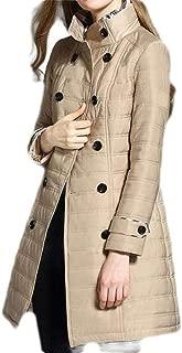Macondoo Women Winter Cotton Padded Thicken Double Breasted Overcoat Parka Coat