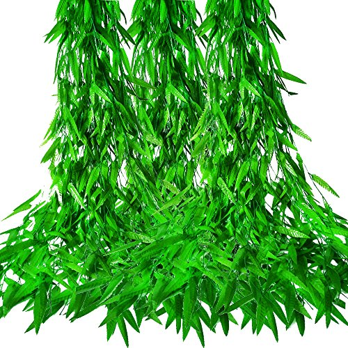 MZTD (12pcs x 2m) Hiedra Artificiales Artificial Hiedra Guirnalda Plantas Artificiales Verde Hojas de Balcón y Cerca, Oficinas Cocina Seda Guirnalda Decorativo, (50PCS*1.9M)