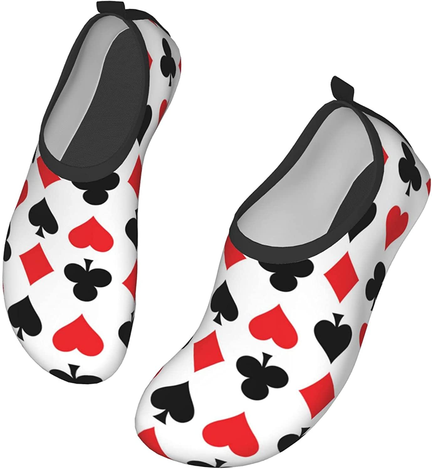 Water Shoes for Womens Mens,Outdoor Beach Poker Red Heart Card A