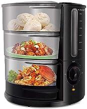 MQQ Cuiseur vapeur électrique pour légumes, 9 Qt 1500 W, chauffage rapide avec 3 étages, panier vapeur pour aliments pour ...
