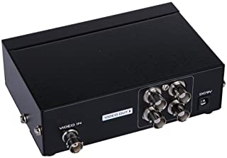 AuviPal 4-Port (1 Input 4 Output) BNC Video Splitter Box Coaxial Distributor Amplifier for Video Monitoring System CCTV Security Camera