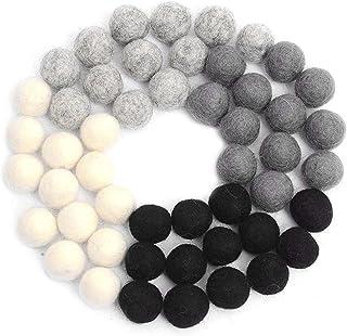 Feutre boules pompons bricolage de laine de laine décoration feutre monochromatique petit pour feutre guirlande décoration...