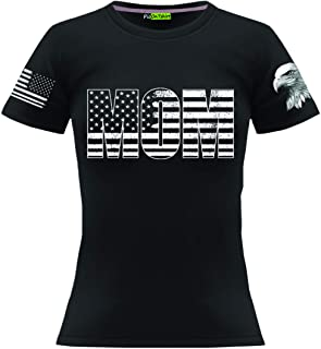 Military Mom Shirt for Women, Army Marine Tshirts for Mother