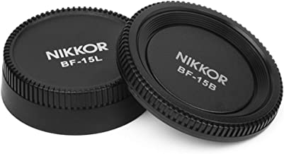 Pixel BF-1A Lens Rear Plus Camera Body Cap for Nikon D90 D7000 D5000 D3100 D3000 D700 D200 D3 D2 D80 Nikkor Lenses,etc.