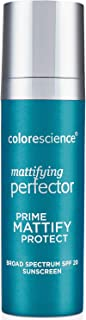Colorescience Mattifying Perfector Face Primer, Water Resistant Mineral Sunscreen, Broad Spectrum 20 SPF UV Skin Protection, 1 Fl Oz