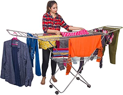 PARASNATH Stainless Steel Butterfly Extra Large Foldable Cloth Dryer/Clothes Drying Stand - Made in India