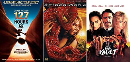 The Many Many Artistic Directions of James Franco/ The James Franco Collection: The Vault + 127 Hours + Spider-Man 2 (Full Screen Special Edition) 3 DVD Bundle