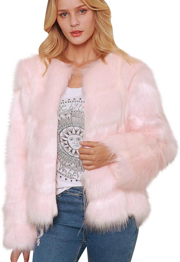 Direct store ✷ HebeTop Women Luxury Faux Max 62% OFF Wrap Fur Coat Jackets Ca