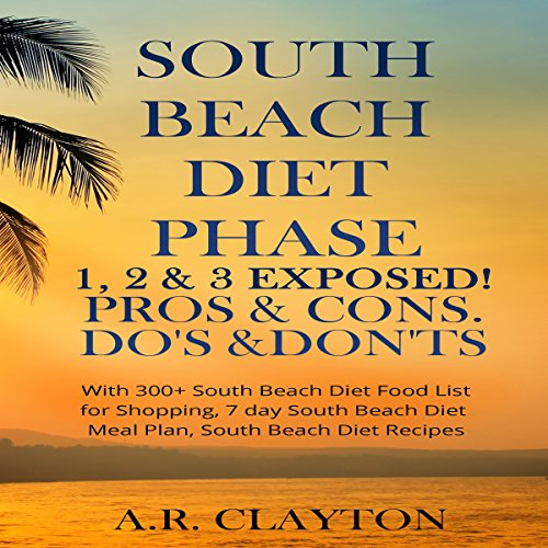South Beach Diet Phase 1, 2 & 3 Exposed! audiobook cover art