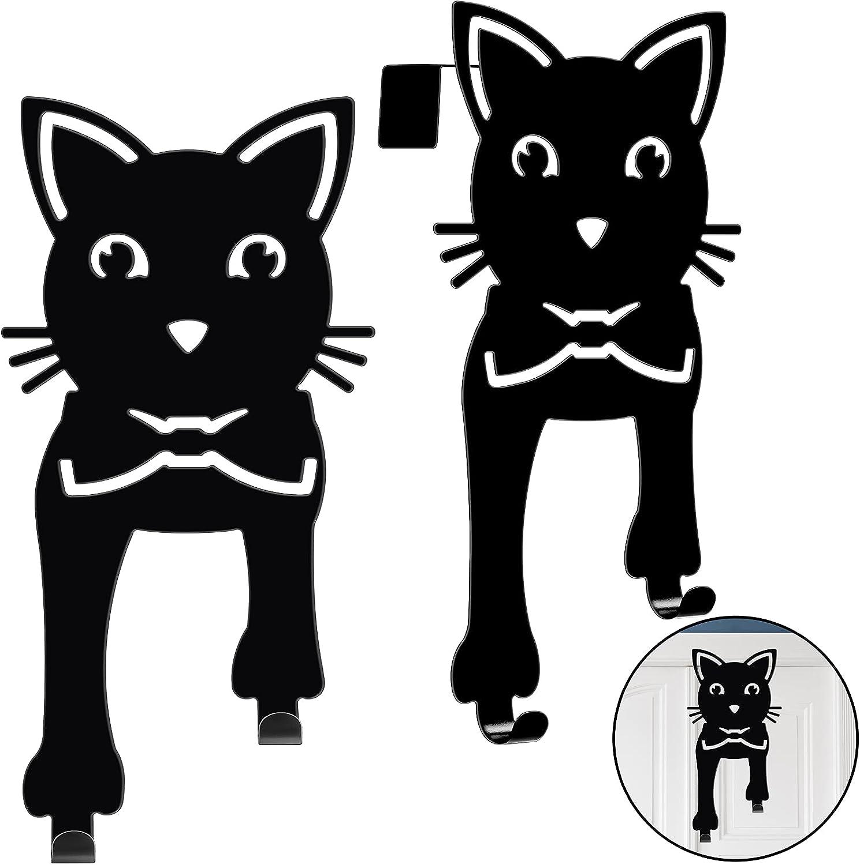 5 ☆ very popular 2 Pieces Over The Max 42% OFF Door Hanger Rack Met Hooks Cat Organizer Black