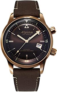 Alpina AL-525BR4H4 Seastrong Diver Heritage Bronze Case Leather Strap Watch