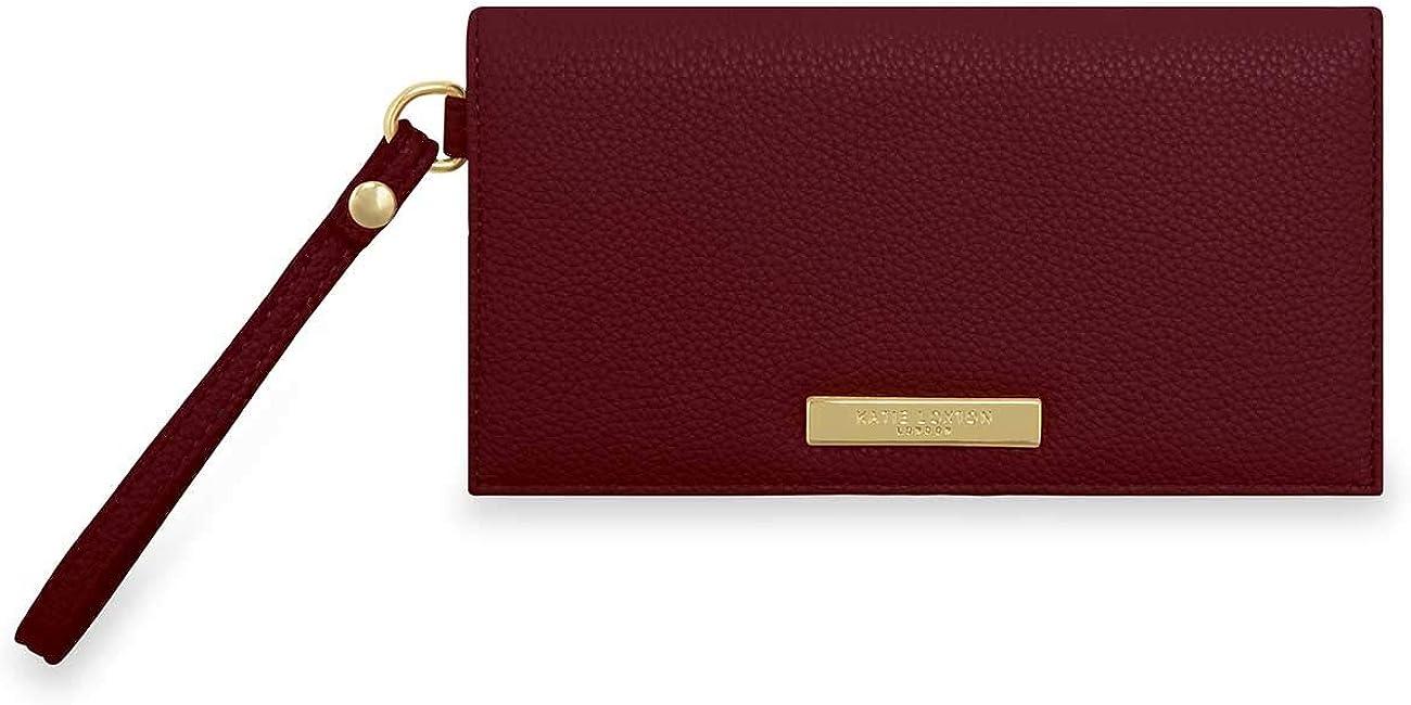 Katie Loxton Cleo Womens Soft Pebble Vegan Leather Wallet Purse Wristlet Burgundy