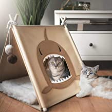 funny supply Cat Felt Tent Pet Teepee House with Ball Toys
