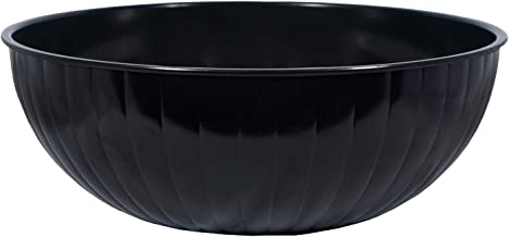 Party Essentials N532489 Hard Plastic 192-Ounce Serving Bowl, Black