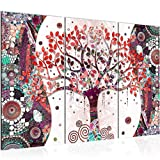 Tableau decoration murale Gustav Klimt Arbre de vie 120 x 80 cm - XXL Impression sur Toile Salon Appartment 3 Parties - prêt à accrocher - 004631c