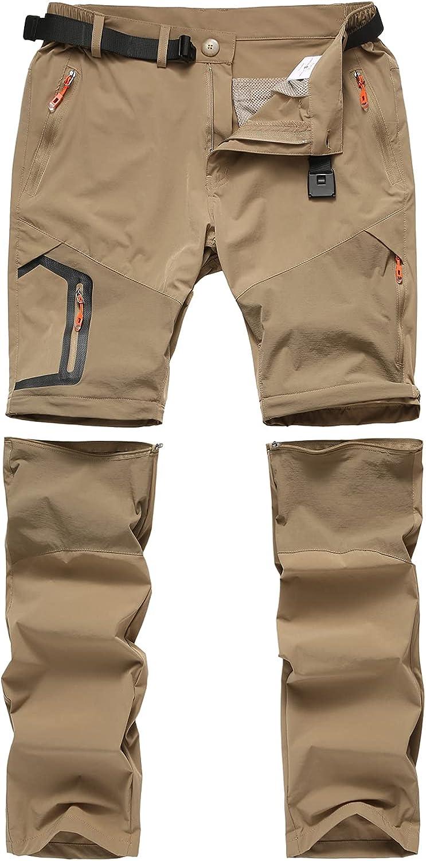 Men's Mail order Outdoor Convertible Pants Zip Max 56% OFF Off Hiking Lig Cargo