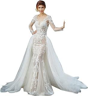 Women's Tulle Overlay Wedding Party Tutu Train Bridal Lace Overskirt