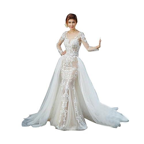 f554ec70e627b Wedding Bridal Detahable Long Tutu Lace Train Wedding Train Tulle Overskirt  Open Front Ivory White Champagne