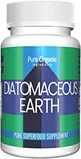 Diatomaceous Earth Superfood Supplement (100 Capsules, 550 mg per serving) by Pure Organic Ingredients, Food Grade, Improves Sleep Patterns*, Strengthens Bones & Joints*, Total Body Wellness*, Lab Tes