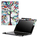 MoKo Lenovo Yoga Book Funda - Ultra Slim Función de Soporte Plegable Smart Cover Stand Case para Lenovo Yoga Book YB1-X90F, YB1-X91F 10.1 Pulgadas 2-in-1 Tablet/Laptop, Lucky Álbo