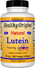 Healthy Origins Lutein Lutemax 2020 Supplement, 20 mg, 180 Count