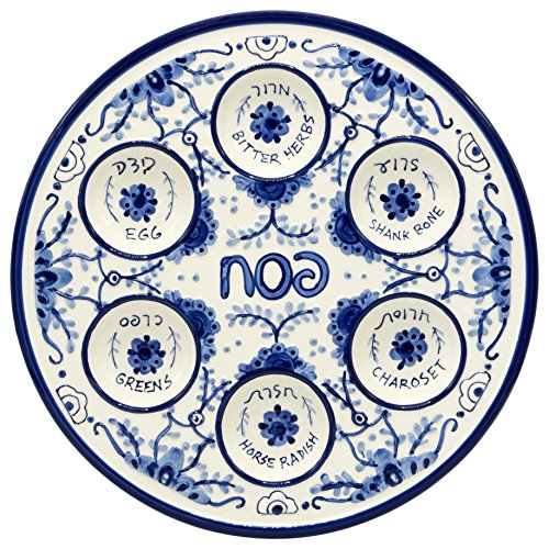 Passover Seder Plate for Pesach Food Ceramic 12