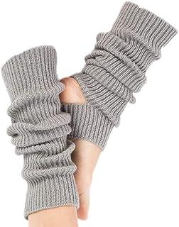 Febbya, Febbya Mujeres Chicas Calcetines Largos de Yoga,Calcetines de Yoga de Punto Largos Calcetines Deportivos de Ganchillo para Yoga Baile Ejercicio Gimnasio Mantener el Calor Gris