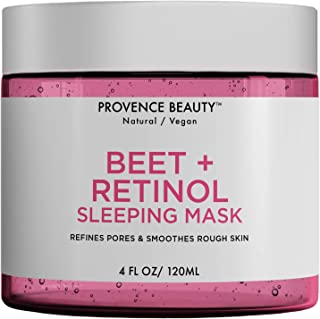 Beet and Retinol Gel Face Mask - Hydrating Face and Neck Moisturizer for Anti Aging, Wrinkle, Acne, Firming and Dry Skin -...