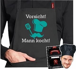 """il regalo perfetto per la festa del pap/à e non solo:/""""Der beste Papa der Welt/"""" lingua tedesca Rahmenlos/® grembiule originale per barbecue"""