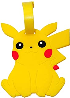 Pikachu Designed PVC Embossed Luggage Id Bag Baggage Name Travel Tag Go (Pikachu Sitting)