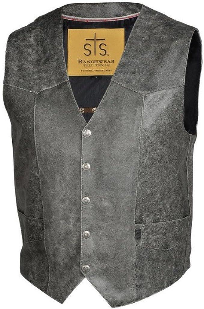STS Ranchwear Men's Lightweight Classic Leather Vest