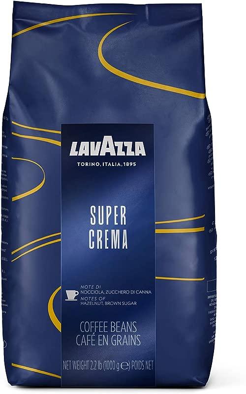 Lavazza Super Crema Whole Bean Coffee Blend Medium Espresso Roast 2 2 Pound Bag