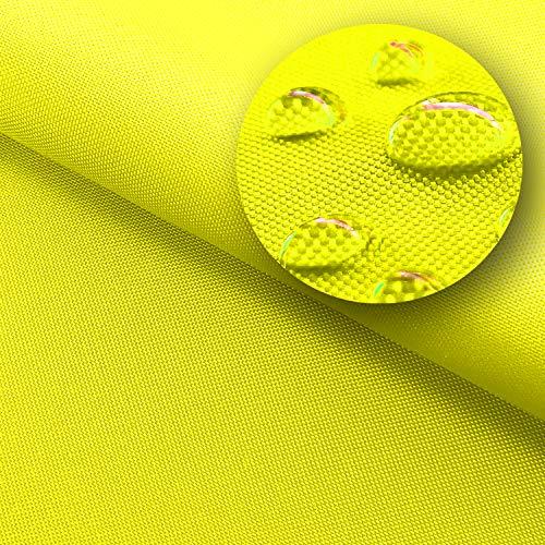 NOVELY® Sunset Oxford 420D - Polyesterstoff Sunrise 420D - UV-beständig Waterproof Meterware Markisen, Sonnenschirme und andere Abdeckungen (77 Limette Gelb)
