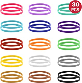 Uiuix Puppy Whelping Collars, 15 Colors Puppy ID Collars, Double-Sided Soft Adjustable ID Bands for Newborn Pet Dog Cat