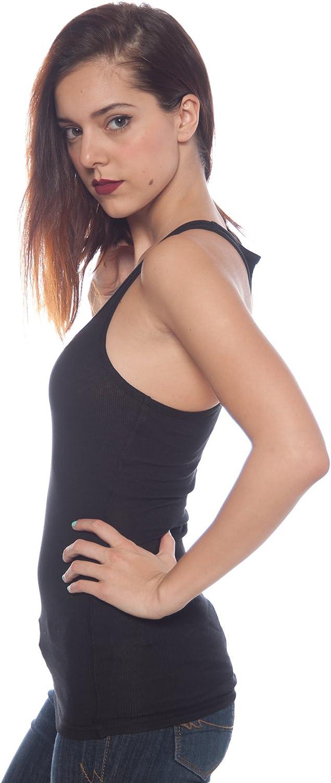 2 Pack Zenana Women's Basic Ribbed Tank Top Large Black, N Pink