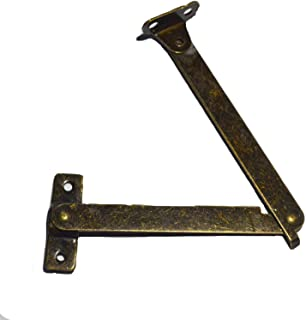 4 Sets Bronze Folding Lid Support Hinges for Lid Display Furniture Support Stay Hinge Cabinet Cupboard Box Lift Up (Folded Size: Length:4-1/4