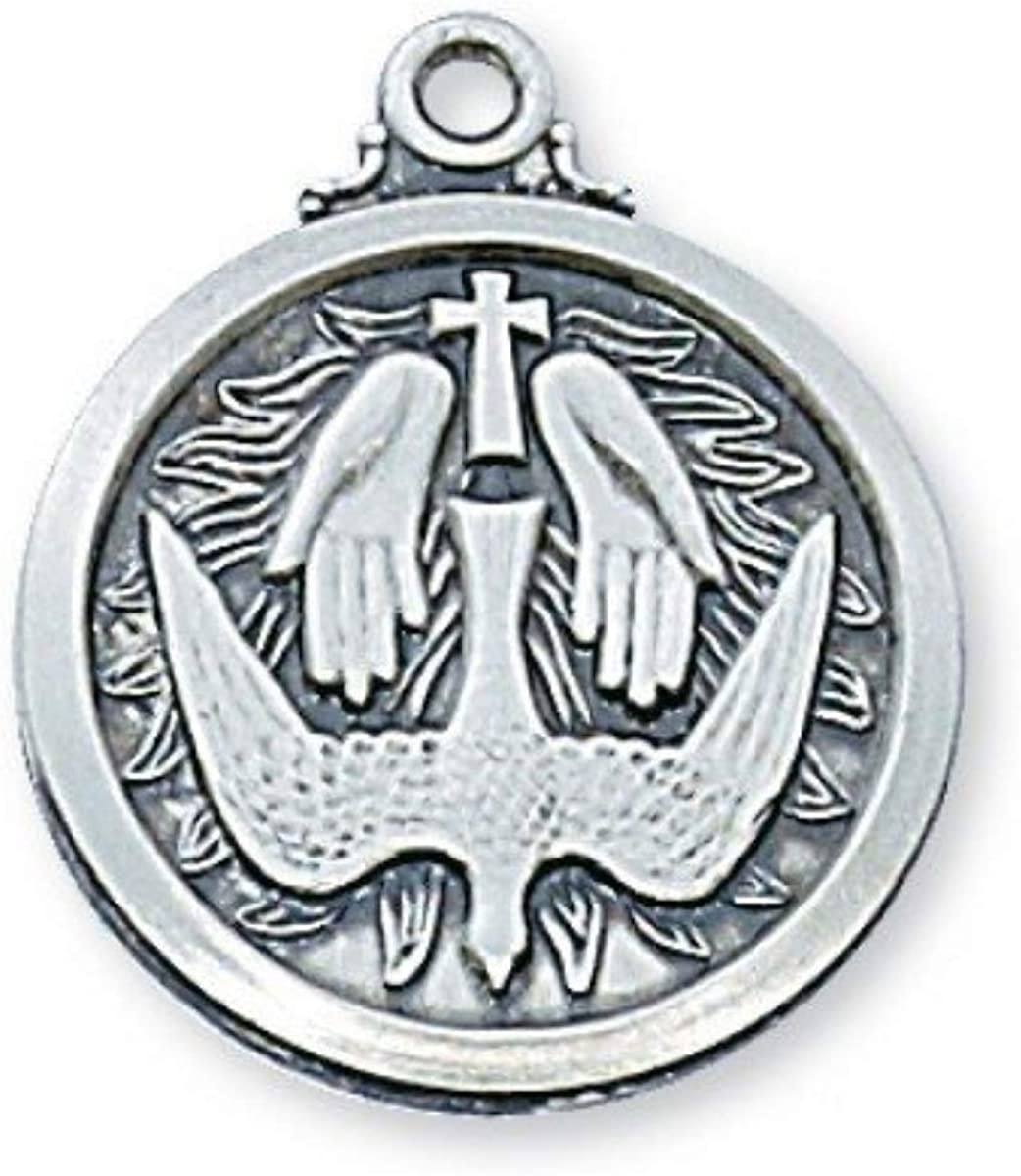 unisex McVan Sterling Silver 3 4-inch Ranking TOP20 Holy Spirit Dove Praying Hands an