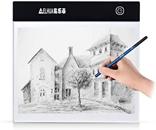Aibecy Portable A5 LED Light Box Drawing Tracing Tracer Copy Board Table Pad Panel Copyboard with Stepless Brightness Cont...