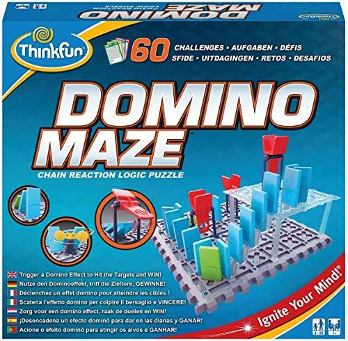 ThinkFun 76373 - Domino Maze™ - Das kniffelige Logikspiel mit dem Dominoeffekt