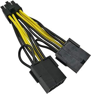 COMeap (paquete de 2) NVIDIA Tarjeta grafica Poder Cable 030-0571-000 CPU Adaptador hembra de 8 pines macho a doble PCIe de 8 pines para Tesla K80 / M40 / M60 / P40 / P100 de 4 pulgadas (10 cm)