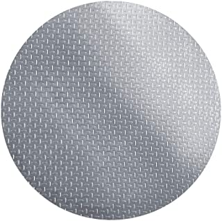 RESILIA - Round Under Grill Mat – Silver, Large 36-inch Diameter, for Outdoor Use