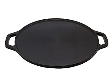 Embassy Cast Iron Flat Dosa/Roti Tawa/Griddle, Pre-Seasoned Cookware, 12 Inches / 30 Cms