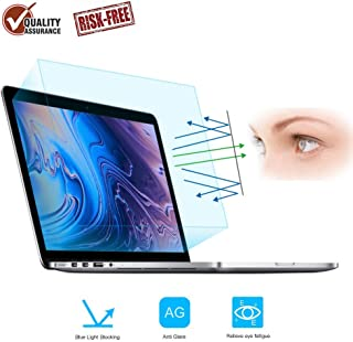 "FORITO 2-Pack Eye Protection Blue Light Blocking & Anti Glare Screen Protector Compatible 2016 2017 2018 Apple MacBook Pro 13"" A1706 A1708 A1989 /2018 Newest MacBook Air 13 Touch ID Version A1932"