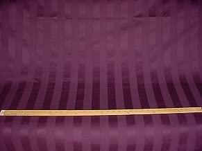301H21 - Purple to Plum Satiny Cotton Stripe Designer Upholstery Drapery Fabric - By the Yard