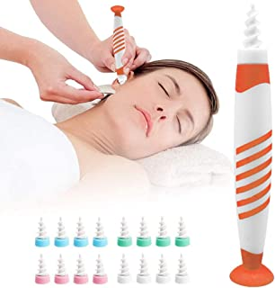 Ear Wax Removal Tool, Q Grips Ear Cleaner for Humans,Soft Ear Wax Removal Kit with 16 Replacement Heads Ear Cleaning Kit f...
