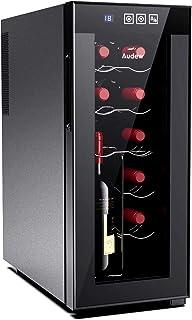Audew 最新 ワインセラー ワインクーラー 12本収納 縦置き・横置き両方に対応可能 大容量 ペルチェ静音式