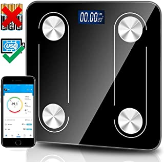 Bluetooth Body Fat Scale, Smart Wireless BMI Bathroom Weight Scale Body Composition Monitor Health Analyzer with Smartphon...