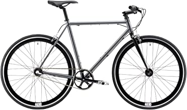 REID Unisex Adult Harrier 3 Speed Nexus 56 cm Hybrid Bike - Grey frame + Black fork, 130 x 40 x 20